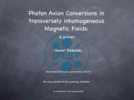Photon Axion Conversions in transversely inhomogeneous Magnetic Fields