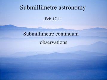 Submillimetre astronomy