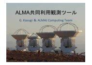 ALMA 共 同 利 用 観 測 ツール