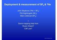 Deployment & measurement of SF & He