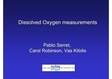 Dissolved Oxygen measurements