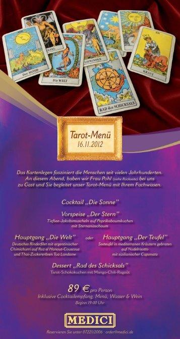 Tarot-Menü 16.11.2012 - Medici