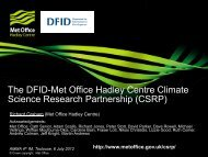 The DFID-Met Office Hadley Centre Climate Science Research Partnership (CSRP)