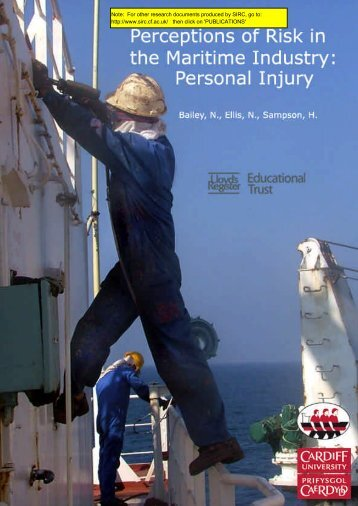 Perceptions of Risk in the Maritime Industry Personal Injury