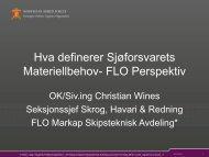 Hva definerer Sjøforsvarets Materiellbehov- FLO Perspektiv
