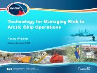 Technology for Managing Risk in Arctic Ship Operations