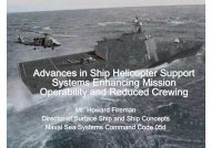 Advances in Ship Helicopter Support Systems Enhancing Mission ...