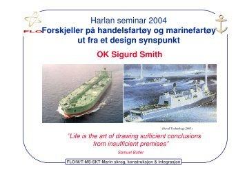 Forskjellen på handelsfartøy og et marinefartøy