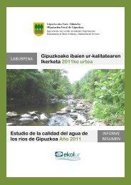 Estudio de la calidad del agua de los ríos de Gipuzkoa
