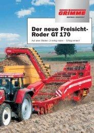 Der neue Freisicht- Roder GT 170 - bei Grimme