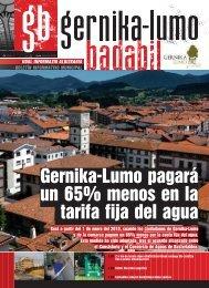 Gernika-Lumo pagará un 65% menos en la tarifa fija del agua