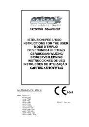 istruzioni per l'uso instructions for the user mode d'emploi ...
