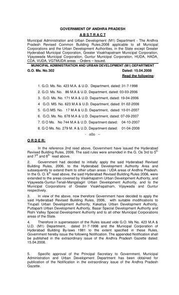 Building Permission Guidelines - Tirupati Municipal Corporation