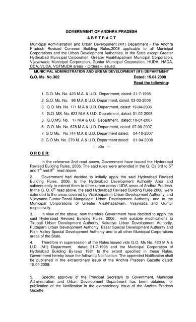 Building Permission Guidelines Tirupati Municipal Corporation
