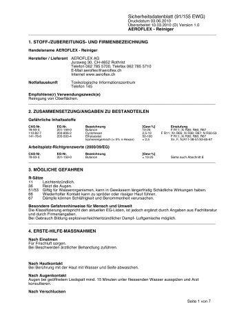 Sicherheitsdatenblatt (91/155 EWG)