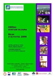 2009KO BILAN D'ACTIVITES