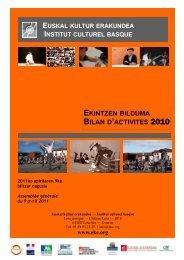 BILAN D'ACTIVITES 2010