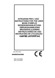istruzioni per l'uso instructions for the user mode d'emploi ...
