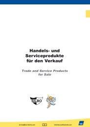 Handels- und Serviceprodukte für den Verkauf