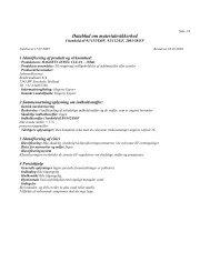 Datablad om materialesikkerhed