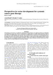 Perspectives in vector development for systemic cancer gene therapy