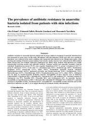 The prevalence of antibiotic resistance in anaerobic bacteria ...