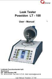 Leak Tester Poseidon LT - 100
