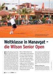 Weltklasse in Manavgat – die Wilson Senior Open