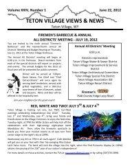 Annual Newsletter (pdf) - Teton Village District Offices
