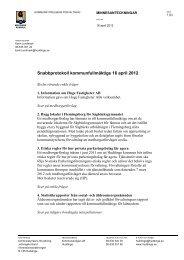 Snabbprotokoll kommunfullmäktige 16 april 2012