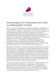Samtal om medborgardialog - Huddinge kommun
