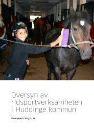 Översyn av ridsportverksamheten i Huddinge kommun