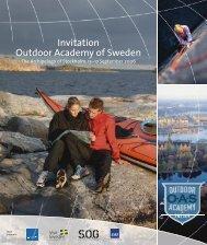 Invitation Outdoor Academy of Sweden