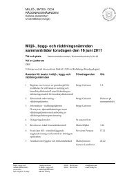 Miljö- bygg- och räddningsnämnden sammanträder torsdagen den 16 juni 2011