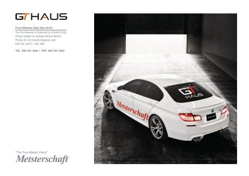 Introducing the Most Advanced Performance Exhaust     - GT Haus