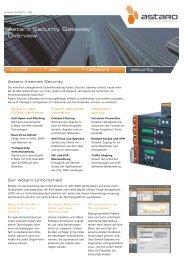 Weitere Informationen zu Astaro-Produkten - ALSAnet AG