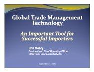 Global Trade Management Technology