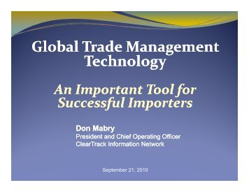 Global Trade Management Technology