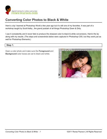 Converting Color Photos to Black & White