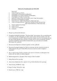 Referat fra Områdemødet den 30.01.2010 Dagsorden ... - DCU Motion