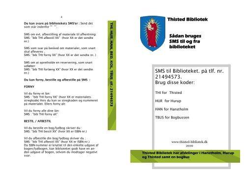 Download en folder om at bruge SMS - Thisted Bibliotek