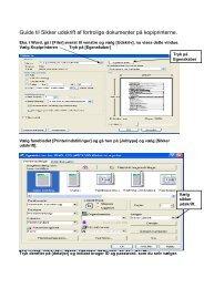 Guide til Sikker udskrift af fortrolige dokumenter på kopiprinterne