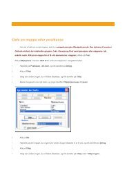 Dele en mappe eller postkasse