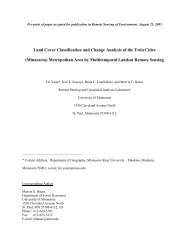 Land Cover Classification and Change Analysis of the Twin Cities ...