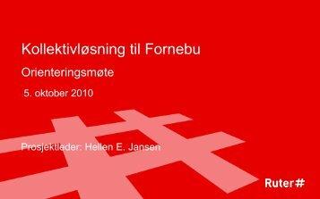 Kollektivløsning til Fornebu