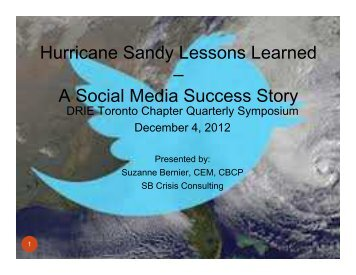 Hurricane Sandy Lessons Learned – A Social Media Success Story