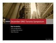 December DRIE Toronto Symposium