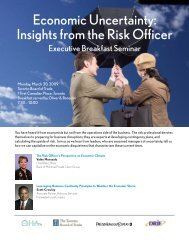 Economic Uncertainty Insights from the Risk Officer
