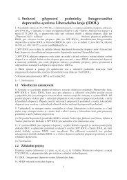 1. Smluvní přepravní podmínky Integrovaného dopravního ... - Idol