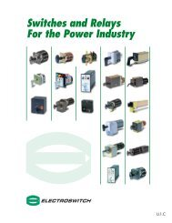 Switches and Relays For the Power Industry